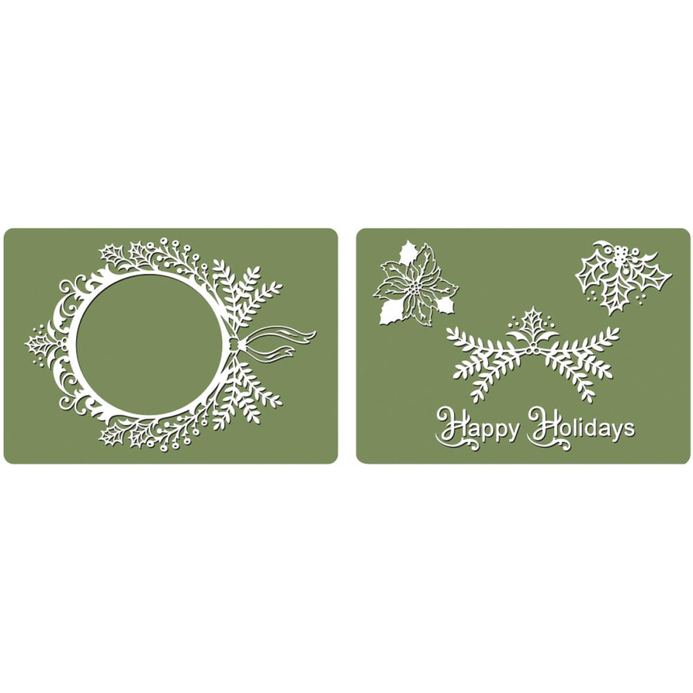 Sizzix Framelits Dies 4 pack with Textured Impressions Folder Ornaments #2