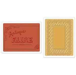 Sizzix Textured Impressions Embossing Folders - Antique Faire & Lace
