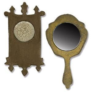 Sizzix Movers & Shapers Magnetic Dies By Tim Holtz 2 Pack - Mini Mirror & Wall Clock