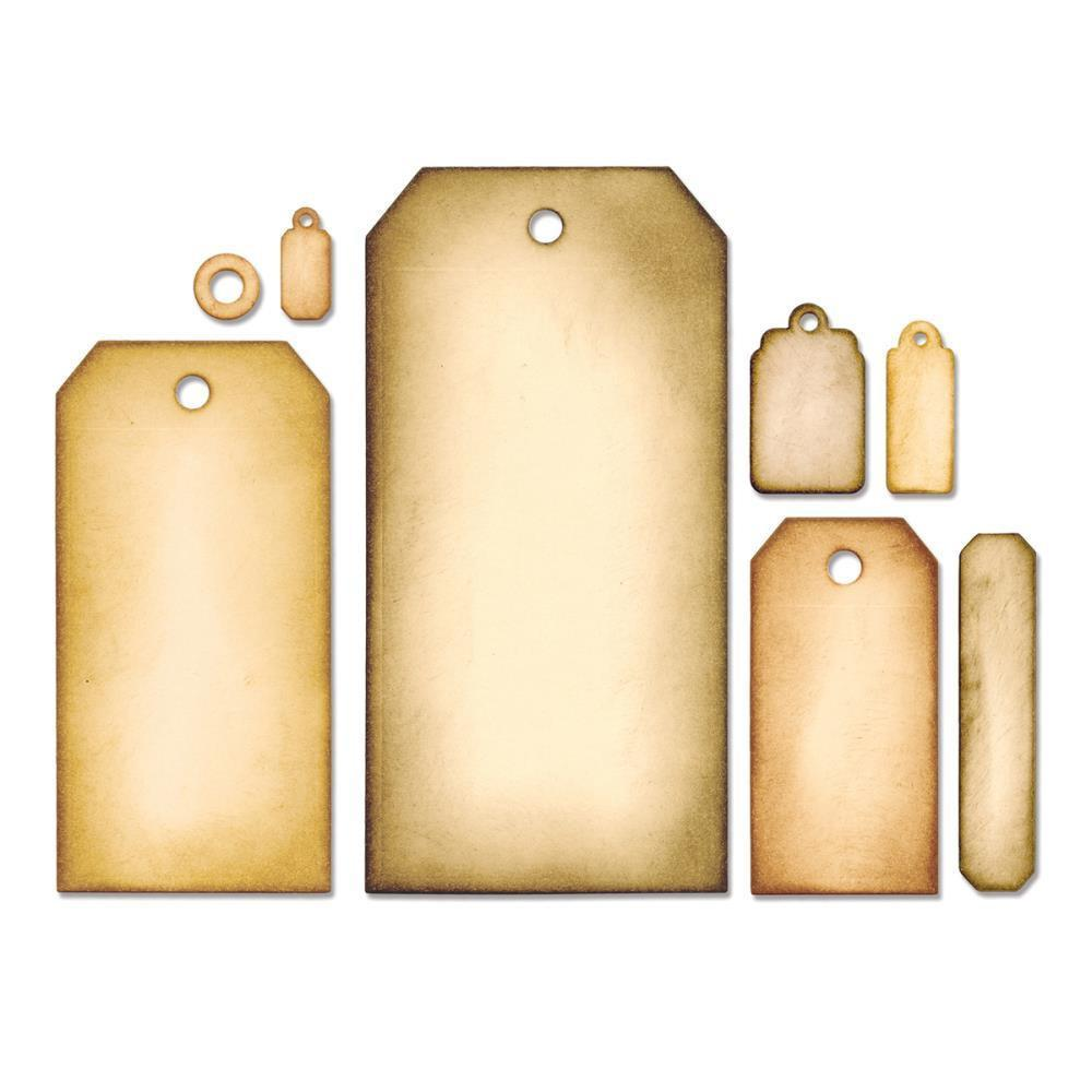 Sizzix Framelits Dies By Tim Holtz 8 pack Tag Collection