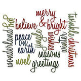 Sizzix Thinlits Dies 17 Pack By Tim Holtz Script Holiday Words