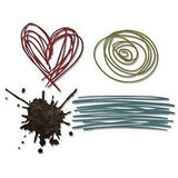 Sizzix Thinlits Dies 4 Pack By Tim Holtz Scribbles & Splat