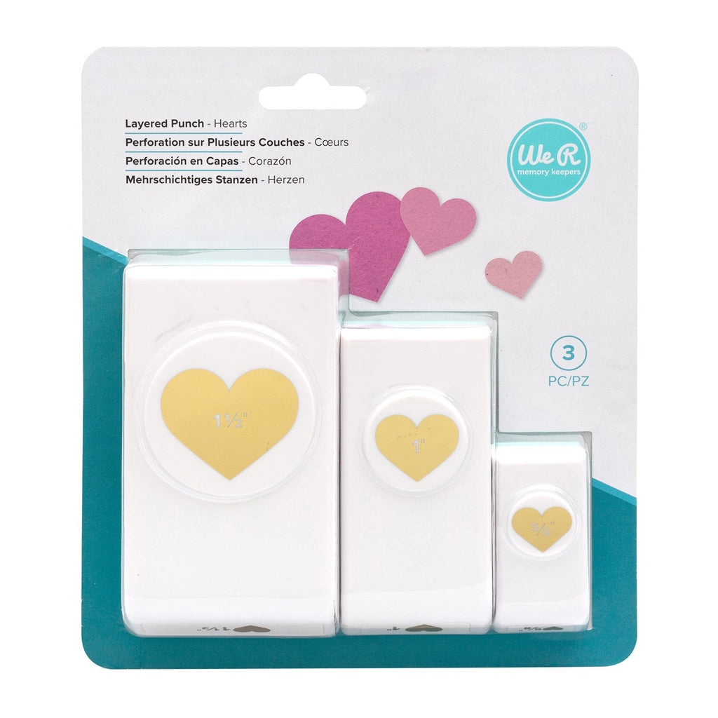 We R Memory Keepers Layering Punches 3 pack  - Hearts