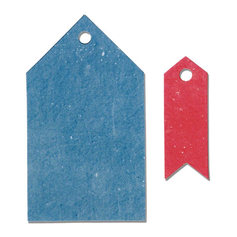Sizzix Originals Dies 2 pack By Echo Park Pointed Tags