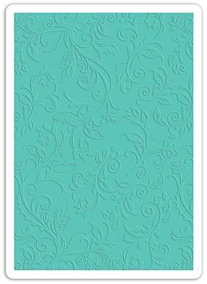 Sizzix Textured Impressions Plus Embossing Folder Botanical Swirls