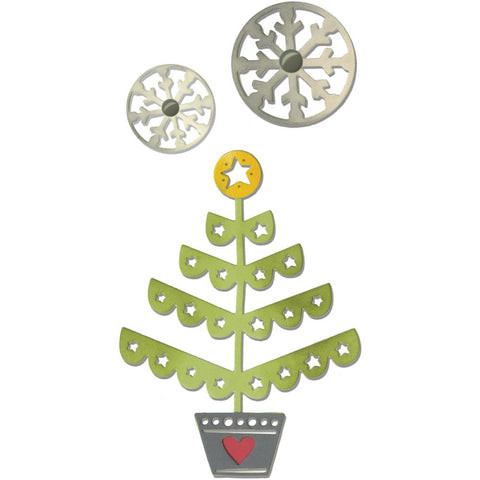 Sizzix Thinlits Dies 3 pack Christmas Tree & Snowflakes