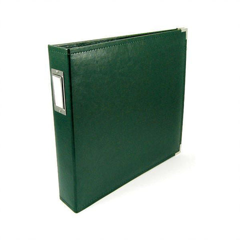 We R Classic Leather D-Ring Album 12 inch X12 inch Forest Green
