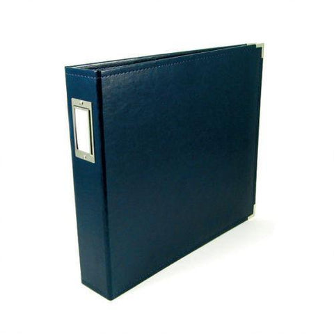 We R Classic Leather D-Ring Album 12 inch X12 inch Navy
