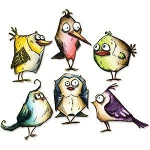 Sizzix Thinlits Dies 18 Pack  By Tim Holtz Bird Crazy