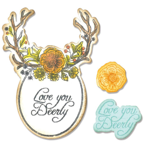 Sizzix Framelits Dies 5 pack with Stamps Sweet Deer