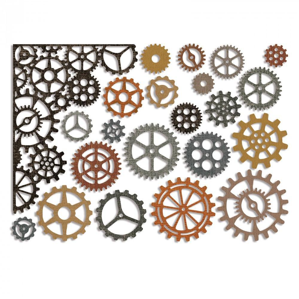 Sizzix Thinlits Die Set 22 pack - Gearhead