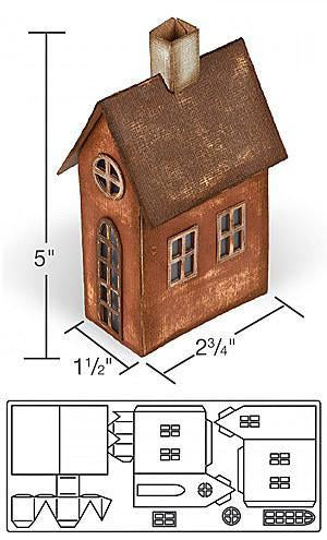 Sizzix Bigz Xl Die By Tim Holtz 6In. X13.75In. Village Brownstone