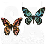 Sizzix Thinlits Dies: Mini Detailed Butterflies