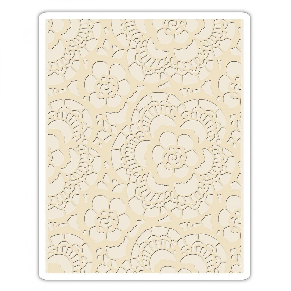 Tim Holtz Texture Fades Embossing Folder - Lace