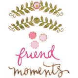 Sizzix Thinlits Dies By Eileen Hull 4 pack Floral Arch & Words