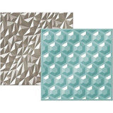 Wrmk Next Level Embossing Folders (2 Pack) 6X6 Inch - Gemstone
