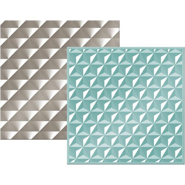 Wrmk Next Level Embossing Folders (2 Pack) 6X6 Inch - Geometric