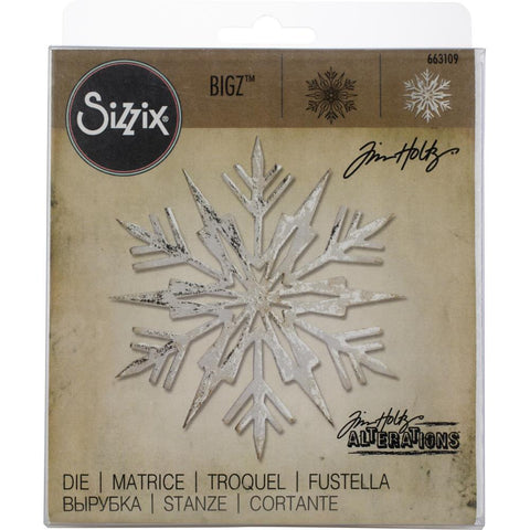 Sizzix Bigz Die By Tim Holtz 4X4.25 Ice Flake