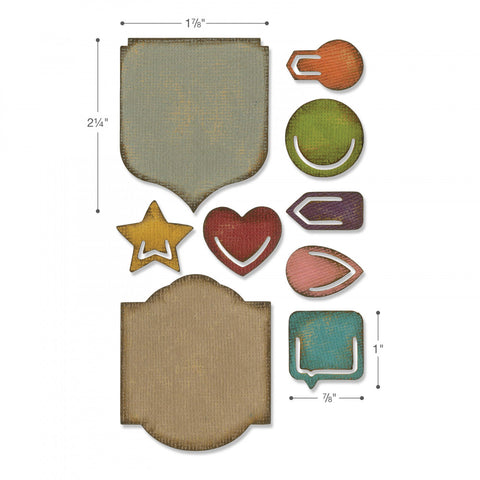 Sizzix Sidekick Side-Order Set By Tim Holtz Noted