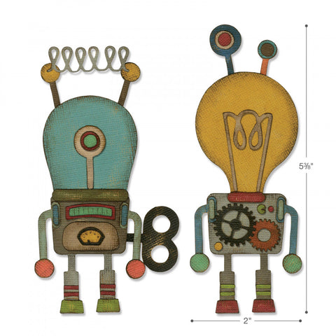 Sizzix Thinlits Die Set 14 Die Set - Robotic by Tim Holtz