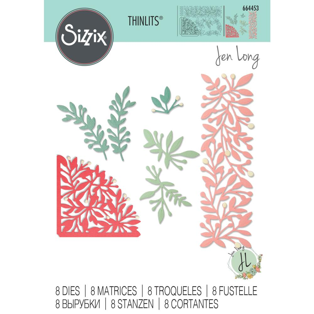 Sizzix - Thinlits Die Set 8 pack - Intricate Corners by Jen Long