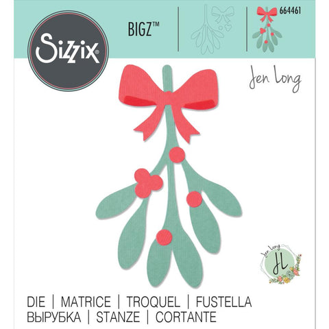 Sizzix - Bigz Die - Mistletoe Leaves by Jen Long