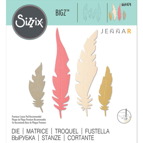 Sizzix - Bigz Die - Natural Feathers by Jenna Rushforth