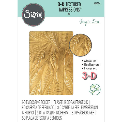 Sizzix - 3-D Textured Impressions Embossing Folder - Fallen Leaves by Georgie Evans