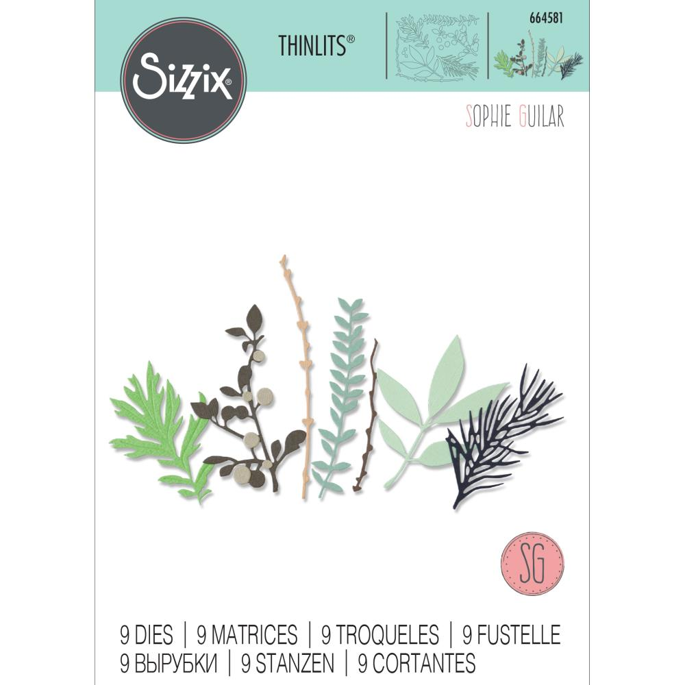 Sizzix - Thinlits Die Set 9 pack - Hidden Leaves by Sophie Guilar