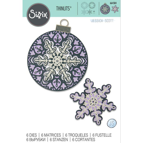 Sizzix - Thinlits Die Set 6 pack - Layered Snowflake by Jessica Scott