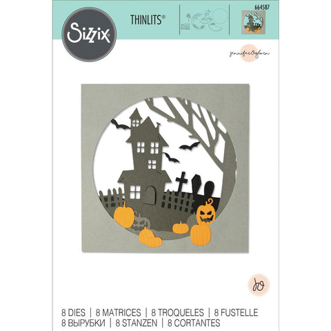 Sizzix - Thinlits Die Set 8 pack - Haunted Hills by Jennifer Ogborn