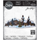 Sizzix - Thinlits Die Set 6 pack - Holiday Village Colorize by Tim Holtz