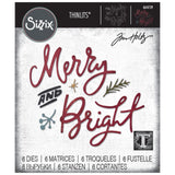 Sizzix - Thinlits Die Set 6 pack - Merry & Bright by Tim Holtz