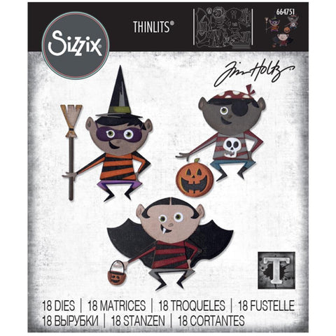 Sizzix - Thinlits Die Set 18 pack - Trick or Treater by Tim Holtz