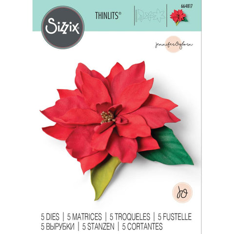 Sizzix - Thinlits Die Set 5 pack - Elegant Poinsettia by Jennifer Ogborn