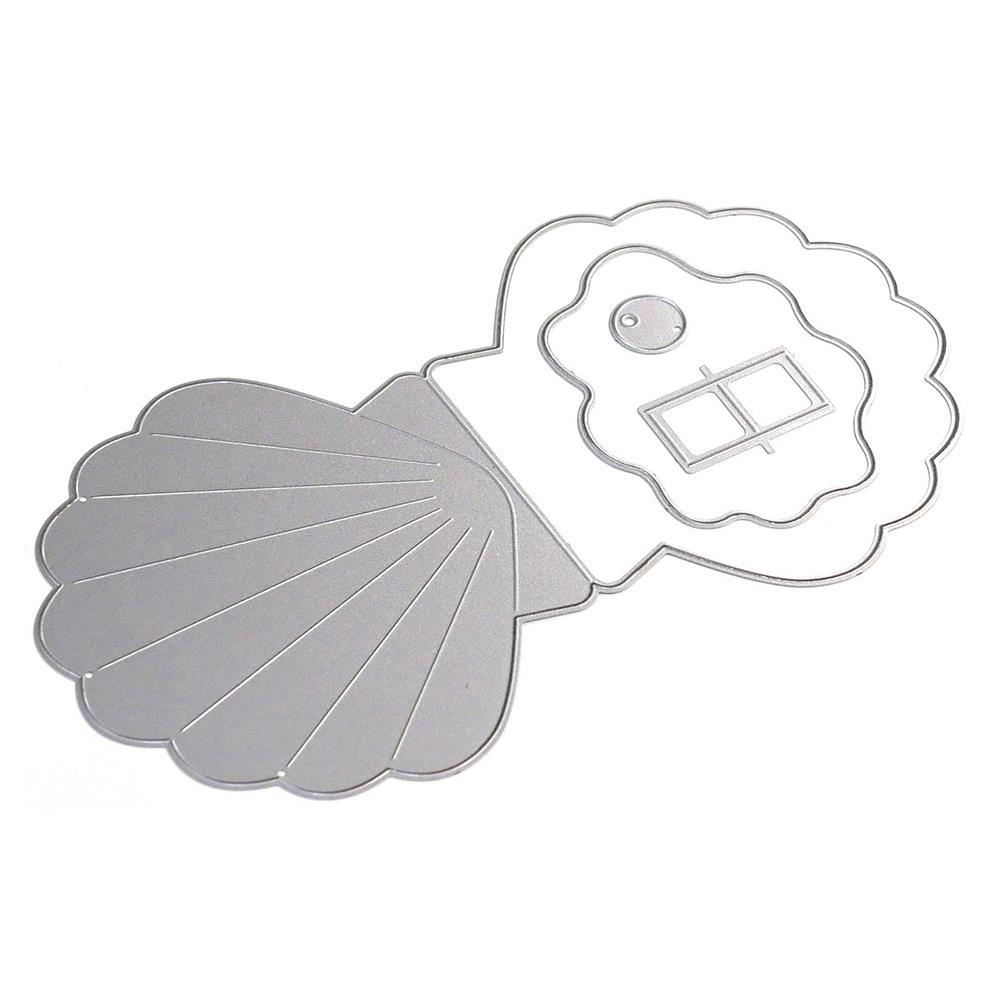 Elizabeth Craft Metal Die - Oyster Shell Card with Pop-Up
