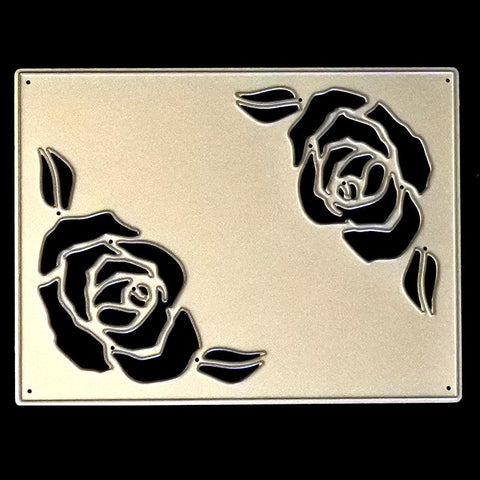 Poppy Crafts Dies - Beautiful Rose Card Die Design