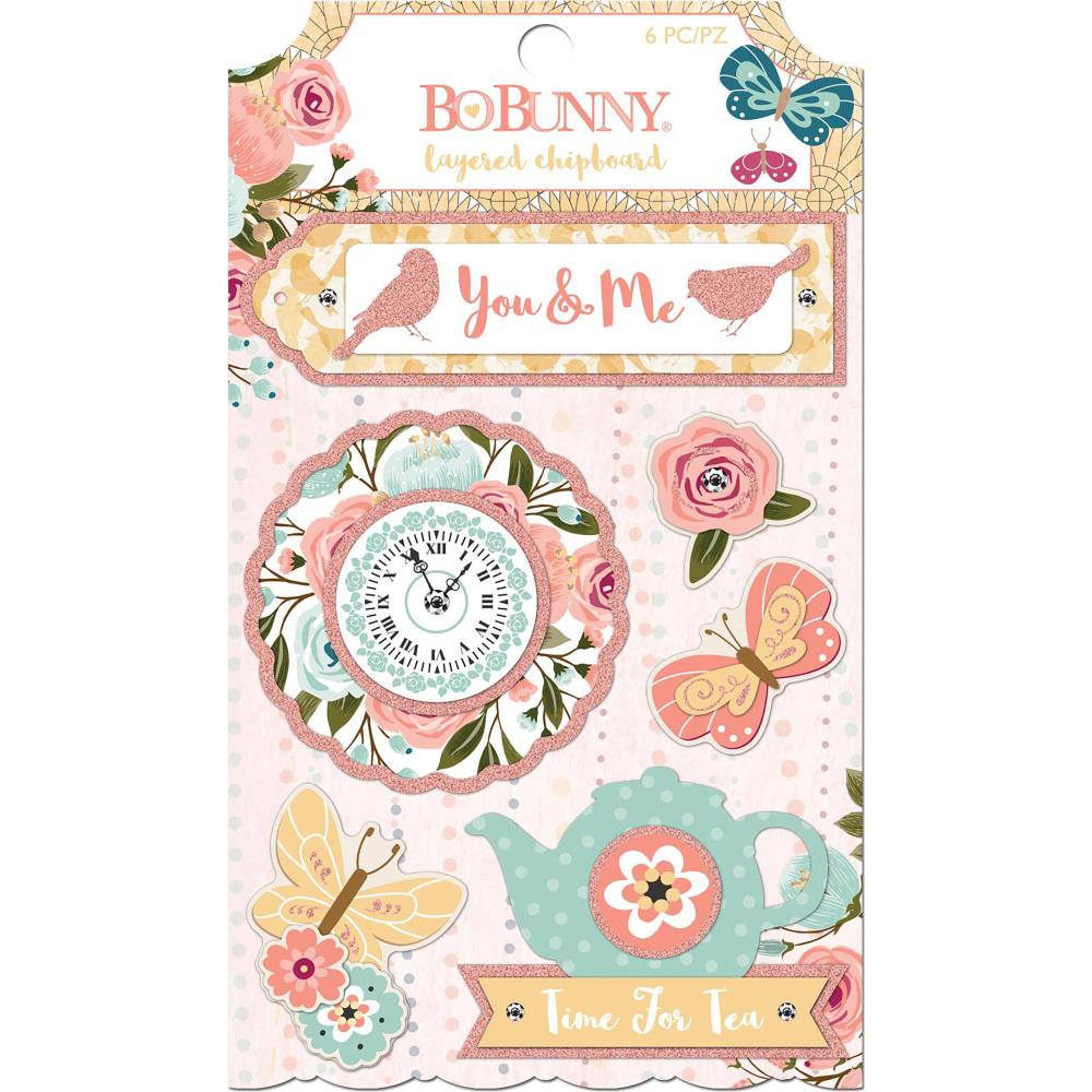 BoBunny Early Bird Adhesive Layered Chipboard