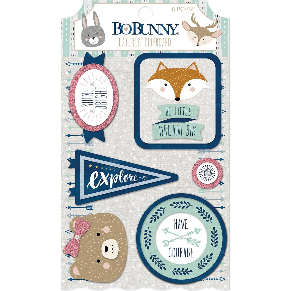 BoBunny Little Wonders Adhesive Layered Chipboard