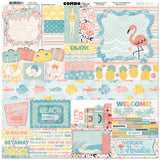 BoBunny Escape To Paradise Combo Stickers 12 inch X12 inch