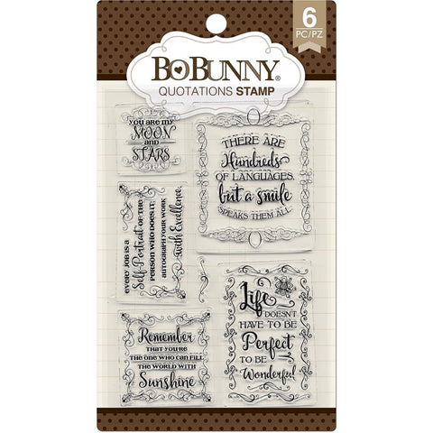 BoBunny Stamps Quotations