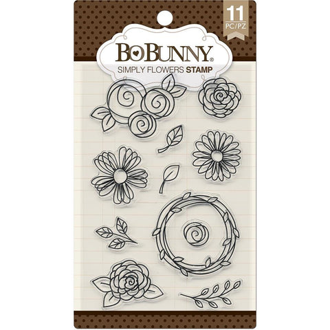 BoBunny Stamps Simply Flowers