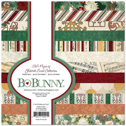 Bo Bunny Single-Sided Paper Pad 6 inch X6 inch 36/Pkg Yuletide Carol, 12 Designs/3 Each