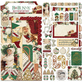 BoBunny Yuletide Carol Noteworthy Die-Cuts 45/Pkg