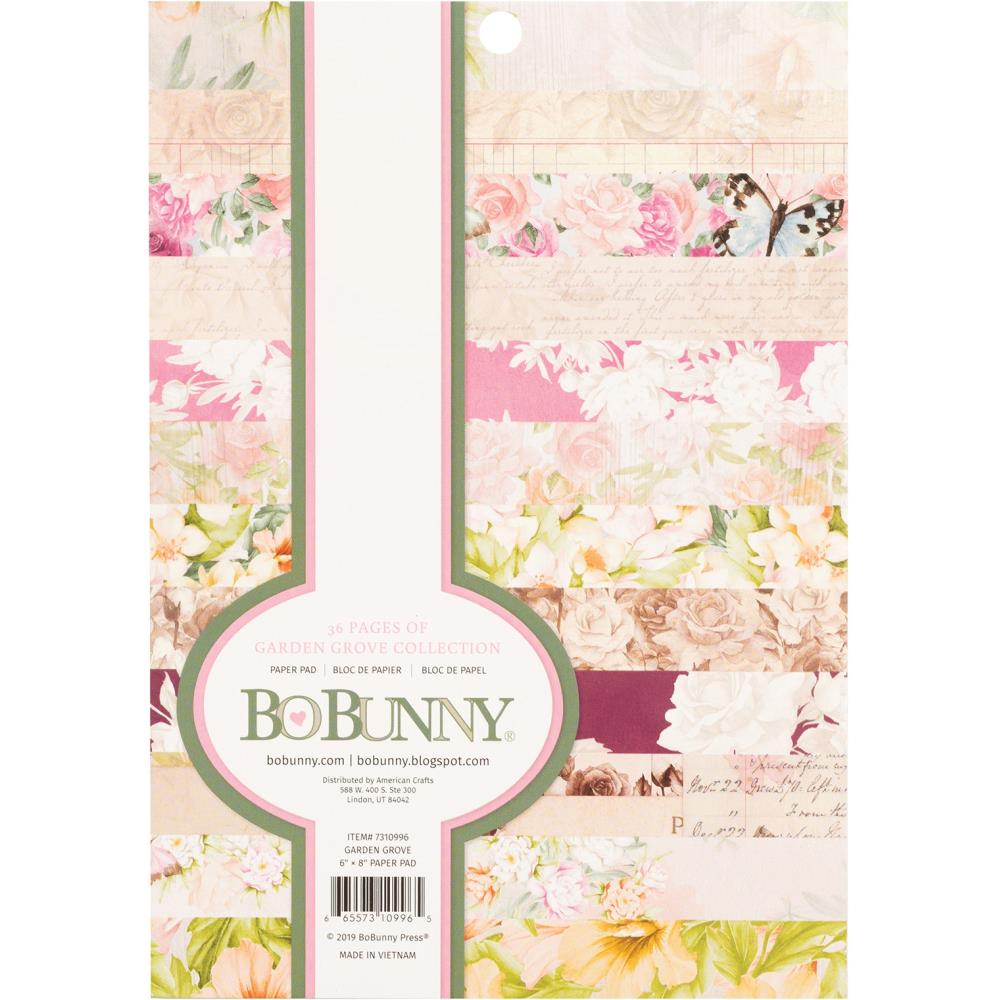 BoBunny Single-Sided Paper Pad 6X8 36/Pkg Garden Grove, 12 Designs/3 Each