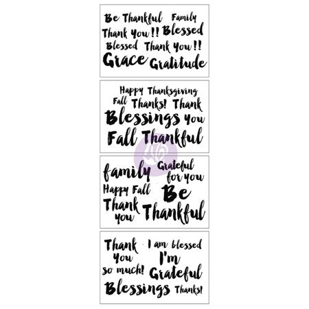 "Christine Adolph Fall Adhesive Rub-Ons 4""X6"" 4/Pkg Blessings Words"