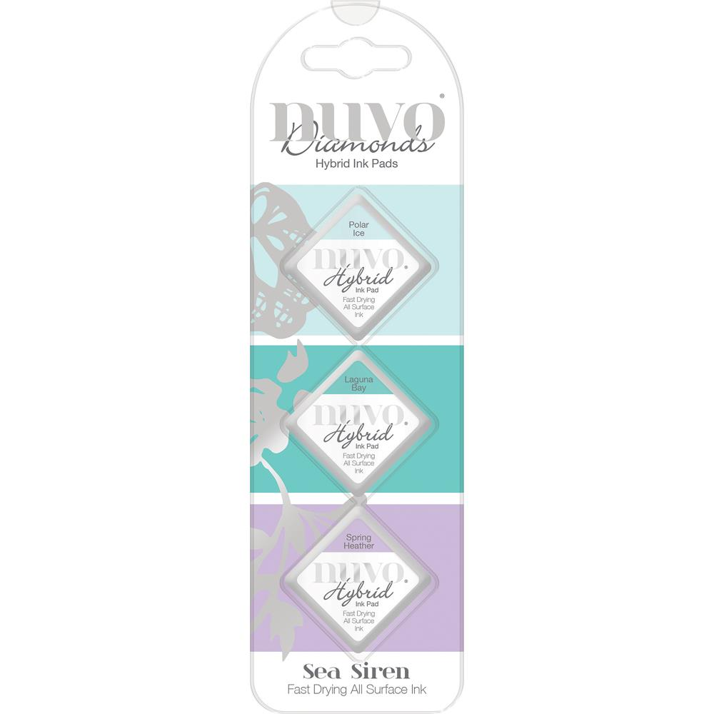 Nuvo Diamond Hybrid Ink Pads 3 pack Sea Siren
