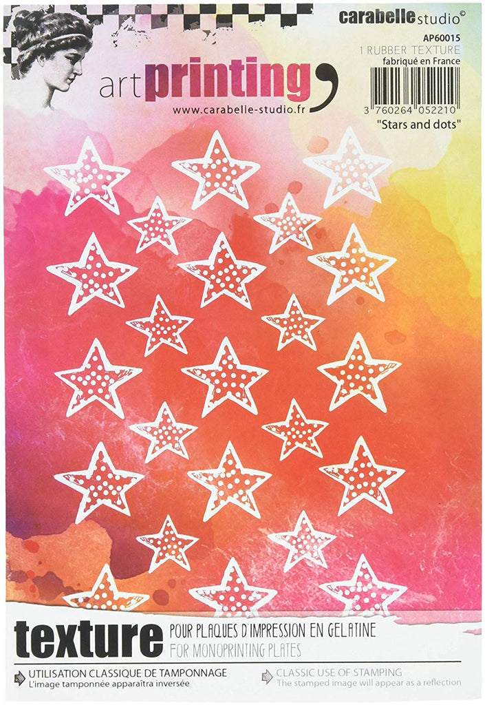 Carabelle Studio Art Printing A6 Rubber Texture Plate Stars & Dots