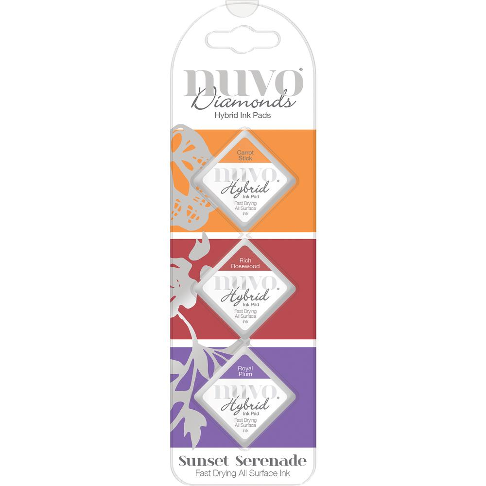 Nuvo Diamond Hybrid Ink Pads 3 pack Sunset Serenade