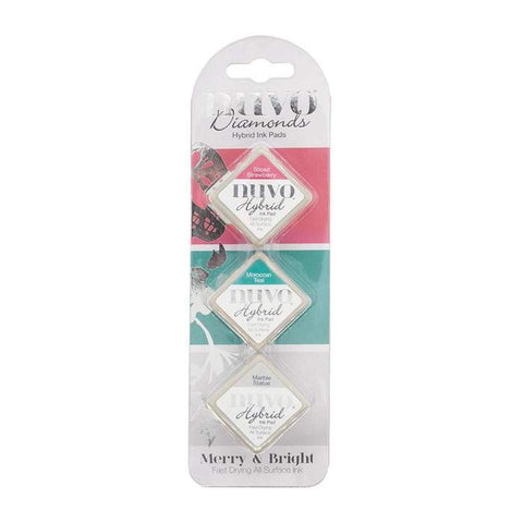 Tonic Studios - Nuvo Diamond Hybrid Ink Pads (3 pack) Merry & Bright
